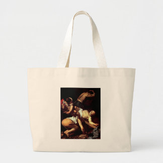 "Original paint ""La crocifissione di s Pietro"" Large Tote Bag"
