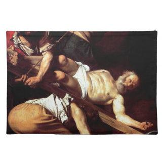 "Original paint ""La crocifissione di s Pietro"" Placemat"