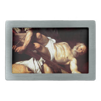 "Original paint ""La crocifissione di s Pietro"" Rectangular Belt Buckles"