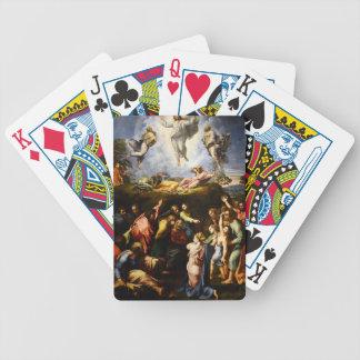 "Original paint ""the Transfiguration"" Raffaello Bicycle Playing Cards"