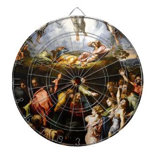"Original paint ""the Transfiguration"" Raffaello Dartboard"