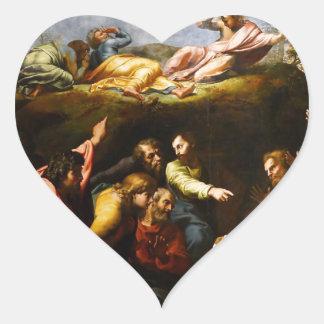 "Original paint ""the Transfiguration"" Raffaello Heart Sticker"