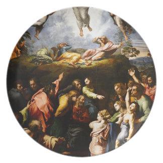"Original paint ""the Transfiguration"" Raffaello Plate"