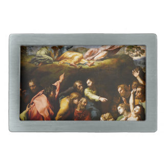 "Original paint ""the Transfiguration"" Raffaello Rectangular Belt Buckles"