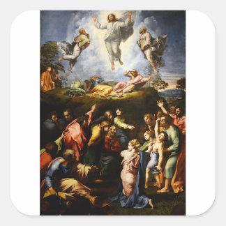 """Original paint """"the Transfiguration"""" Raffaello Square Sticker"""