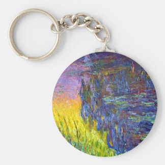 """Original paint """"The Water Lilies"""" by Claude Monet Key Ring"""