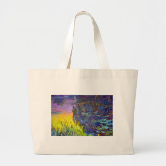 "Original paint ""The Water Lilies"" by Claude Monet Large Tote Bag"