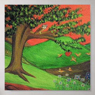 Original Painting: Athena's Tree Poster
