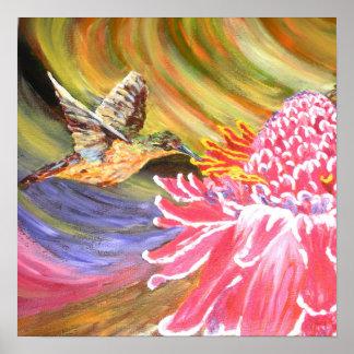 "Original Painting- ""Ho Hum"" Poster"