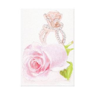 "Original Painting on Canvas, ""Pink Diamond"" Canvas Print"