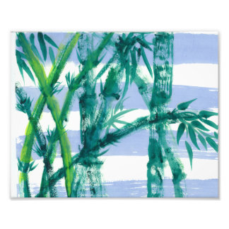 "Original Painting Print:  ""BambooBlue Water Flag"" Photograph"