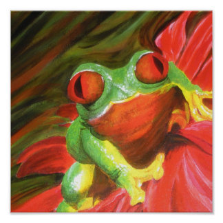 "Original Painting- ""Tree Frog"" Poster"