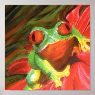 "Original Painting- ""Tree Frog"" Poster"