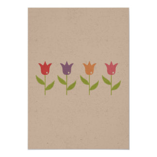 Original paper greeting with Tulips Card