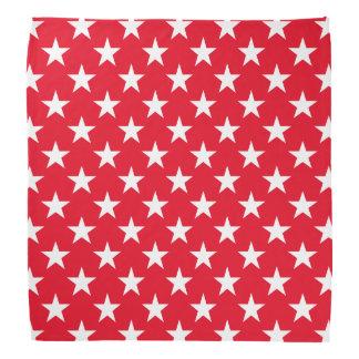 Original Patriotic Red White Stars Symbol Pattern Head Kerchiefs