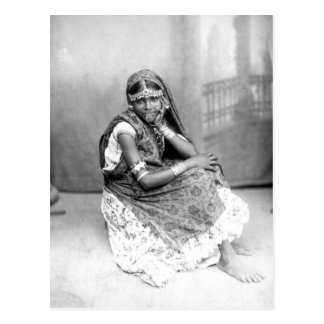 Original photo of Indian girl in Trinidad 1890 Postcard