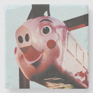 Original Pink Pig Rich's Atlanta Landmark Coaster Stone Beverage Coaster