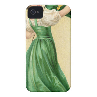Original poster of St Patricks Day Flag Lady iPhone 4 Cases