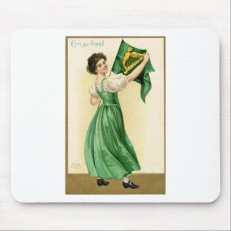 Original poster of St Patricks Day Flag Lady Mouse Pad