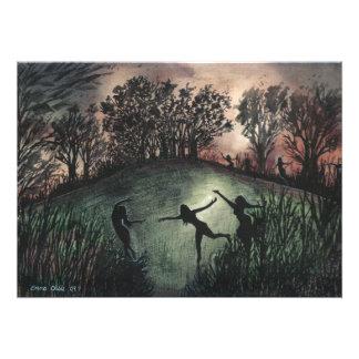 Original Print Moonlight Dance Art Photo