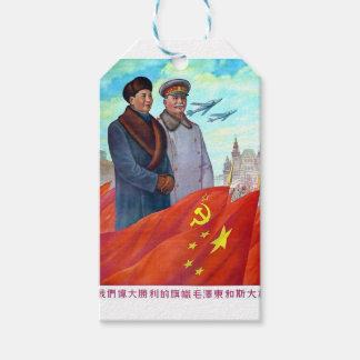 Original propaganda Mao tse tung and Joseph Stalin
