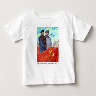 Original propaganda Mao tse tung and Joseph Stalin Baby T-Shirt