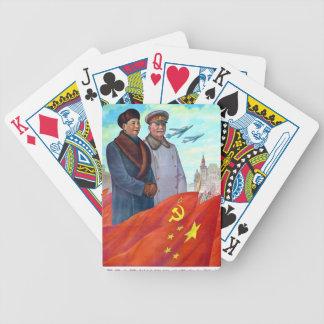 Original propaganda Mao tse tung and Joseph Stalin Bicycle Playing Cards
