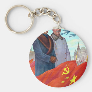 Original propaganda Mao tse tung and Joseph Stalin Key Ring