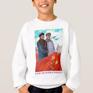Original propaganda Mao tse tung and Joseph Stalin Sweatshirt