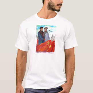 Original propaganda Mao tse tung and Joseph Stalin T-Shirt