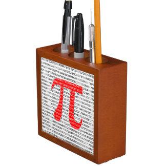 Original red number pi day mathematical symbol desk organiser