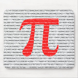 Original red number pi day mathematical symbol mouse pad