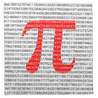 Original red number pi day mathematical symbol napkin