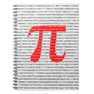 Original red number pi day mathematical symbol notebook