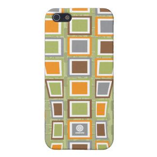 Original Retro block wave design/ green iPhone 5 Covers