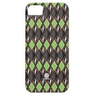 Original Retro Diamond design black/green iPhone 5 Cases