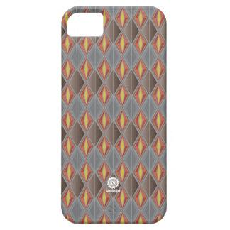 Original Retro Diamond design grey/red Barely There iPhone 5 Case