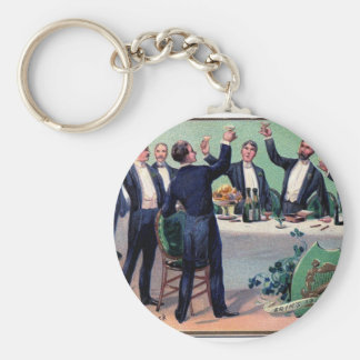 Original Saint patrick's day drink vintage poster Key Ring