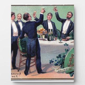 Original Saint patrick's day drink vintage poster Plaque