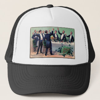 Original Saint patrick's day drink vintage poster Trucker Hat