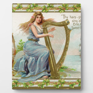 Original Saint patrick's day harp & lady Plaques