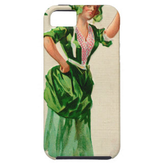 Original Saint patrick's day lady in green Case For The iPhone 5