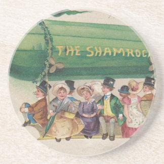 Original Saint Patrick's day vintage shamrock Coaster