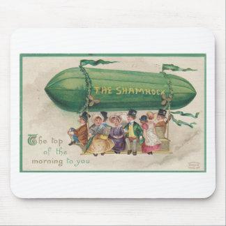 Original Saint Patrick's day vintage shamrock Mouse Pad