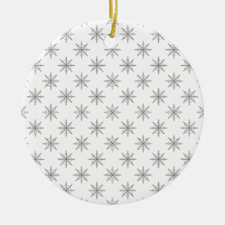Original Snowflake Pattern Round Ceramic Decoration