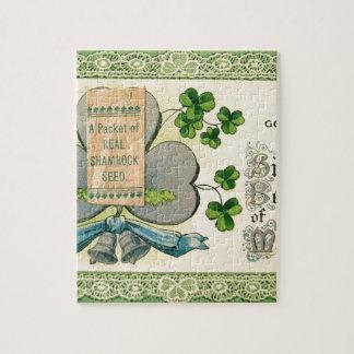 Original St Patrick's day vintage irish draw Jigsaw Puzzle
