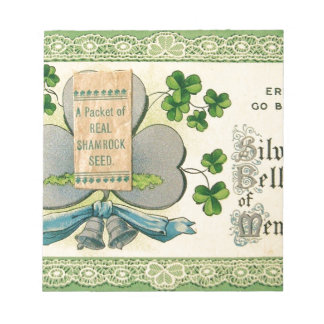 Original St Patrick's day vintage irish draw Notepad
