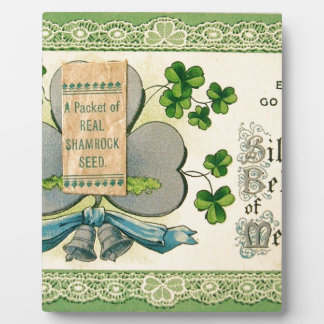Original St Patrick's day vintage irish draw Plaques