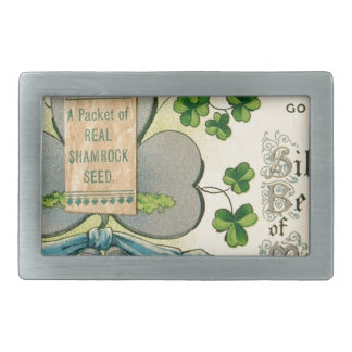 Original St Patrick's day vintage irish draw Rectangular Belt Buckle
