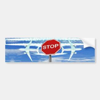 Original Stop Chemtrails Bumper Sticker